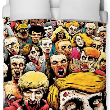 ROB Zombies at the Mall Duvet Cover