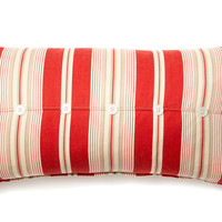 French Laundry Home, Button 12x24 Cotton Pillow, Red, Decorative Pillows