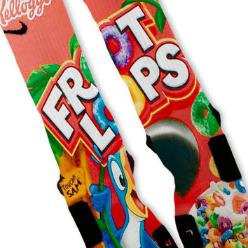 Fruit Loops Customized Nike Elite Socks