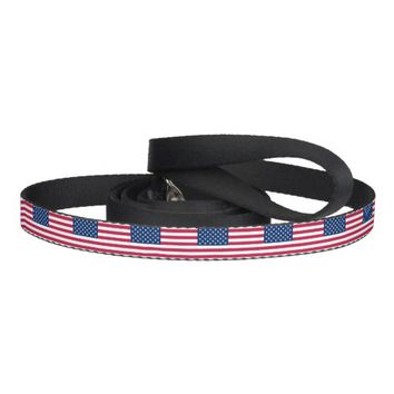 Patriotic dog leash with Flag of USA