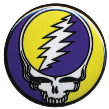 Grateful Dead - Syf Purple & Yellow Button