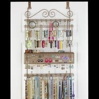 Overdoor Wall Longstem Jewelry Organizer Valet Bronze - Holds over 300 pieces. Unique patented product - Rated Best!: Home & Kitchen