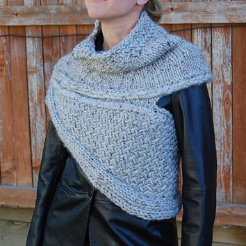 PATTERN PDF - Pattern for DIY Katniss Inspired Cowl - Knitting Pattern - Instant Download - 2 size options