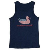 Authentic Flag Tank in Navy by Southern Marsh
