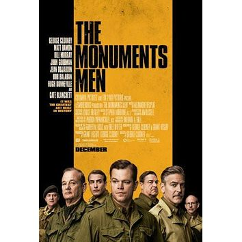 the monuments men poster Metal Sign Wall Art 8in x 12in
