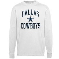 Dallas Cowboys Pro Set Long Sleeve T-Shirt - White