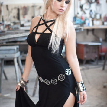 Black Pentagram Dress