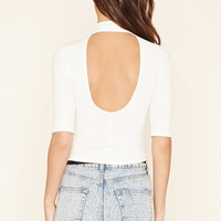 Cutout-Back Crop Top