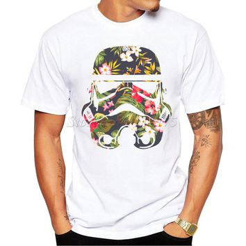 2016 Men's Fashion Tropical Stormtrooper Design T Shirt Male Casual Tops Hipster Printed Summer Tees