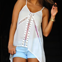 Feel The Breeze Tank: White | Hope's