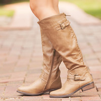 Full of Envy Boots Taupe CLEARANCE
