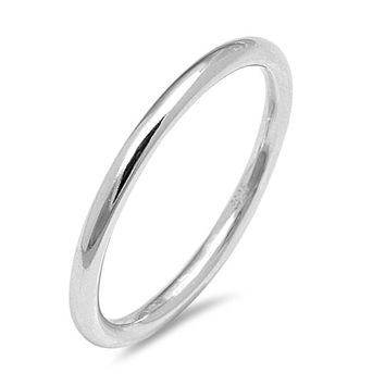The Sweet, A 925 Sterling Silver Platinum Wedding Band