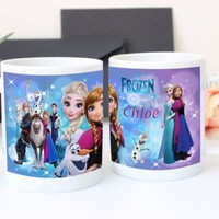 Frozen Elsa Anna Olaf Disney Personalized Ceramic Mug Gift Ideas Disney Princess