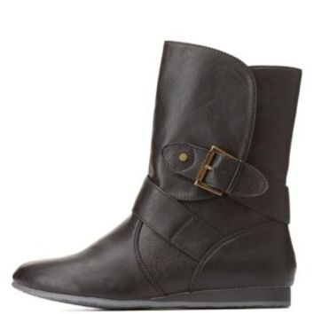 Qupid Belted Mid-Calf Boots by