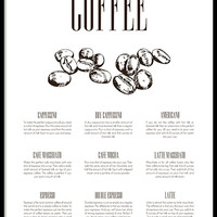Coffee type, poster