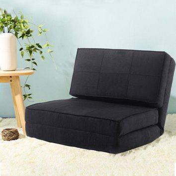 Kids,Teens, Guest Dorm Room Convertible Flip Small Space Lounge Game Chair Sleeper Bed