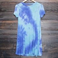 to dye for t shirt dress - blue tie dye