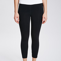 Fold-Over Waist Capri Leggings