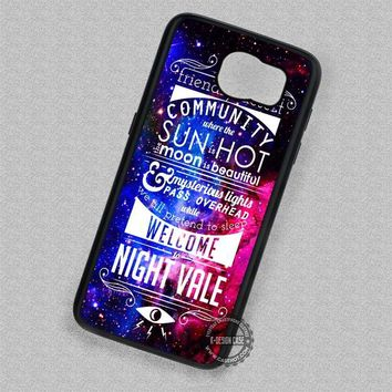 Goodnight Night Vale on Nebula Quote Collage - Samsung Galaxy S7 S6 S5 Note 5 Cases & Covers