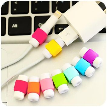 10pcs Cable Protector For iPhone USB Charging Cable Data Line Cord Protector Protective Case Cable Winder Cover Christmas gift