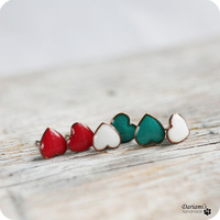 All moods earrings set - Christmas set - green, red, white