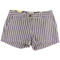 Women's Shorts in Purple and Gold Oxford Stripe by Olde School Brand