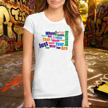 Just The Way You Are Lyric Printed T Shirt, Women T Shirt, (Various Color Available)