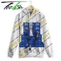 """""""Post malone hoodie"""" bud light pullover with post malone"""