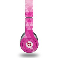 Triangle Mosaic Fuchsia Decal Style Skin - fits genuine Beats Solo HD Headphones (HEADPHONES NOT INCLUDED)