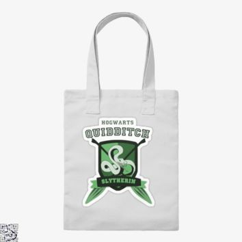 Slytherin Quidditch, Harry Potter Tote Bag