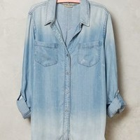 Wind-Washed Chambray Shirt by Holding Horses Light Denim