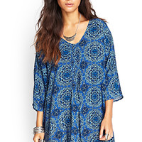 FOREVER 21 Pleated Ornate Tunic