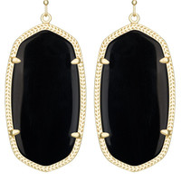 Kendra Scott: Danielle Gold Earrings in Black