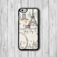 iPhone 6 Case Paris Frence Scenery Eiffel tower iPhone 6 Plus, iPhone 5S, iPhone 5 Case, iPhone 5C Case, Sweet Drawing iPhone 4/4S Case