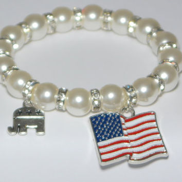 president 2016 - political bracelet - republican party - make america great - trump for president - vote republican - handmade bracelet