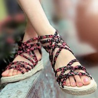 Flora Braided Lace Sandals for Women