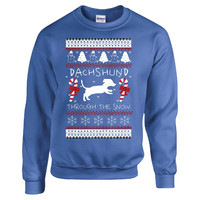 Dachshund Through The Snow  Dachshund T Shirt - Sweatshirt