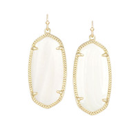Kendra Scott Elle White Pearl Earrings 14K Gold Plated