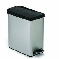 simplehuman Profile Step Trash Can, Stainless Steel, Plastic Lid, 10 L / 2.6 Gal