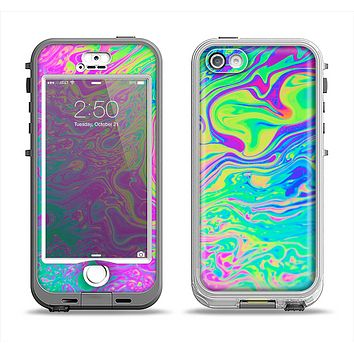 The Neon Color Fushion Apple iPhone 5-5s LifeProof Nuud Case Skin Set