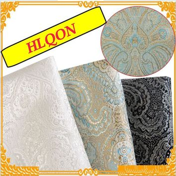 114x100cm High Quality Metallic Jacquard Brocade Fabric, 3D jacquard yarn dyed fabric for clothing,bedding,bag,curtain