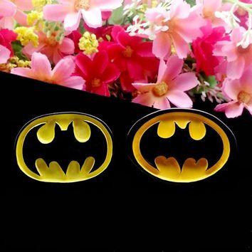 Batman Dark Knight gift Christmas 50pcs/Lot 25x35mm Batman Logo Resin Flatback Cabochons DIY Flat Back for Hair Bow Center Scrapbooking Phone Case Decorations AT_71_6
