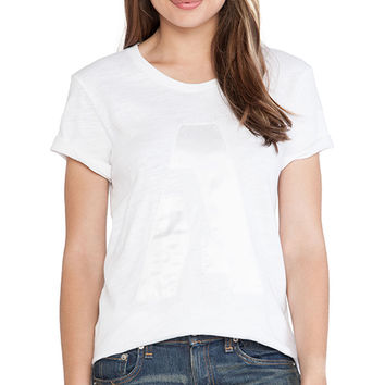 rag & bone/JEAN Boyfriend Tee in White