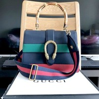 Authentic Gucci Dionysus Medium Bamboo Top Handle Bag