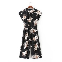 Floral Print Jumpsuit for women