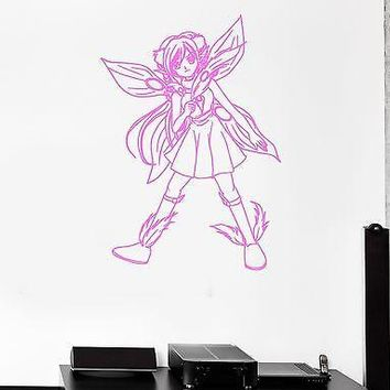 Wall Sticker Fairy Anime Manga Cartoon Kids Room Art Mural Vinyl Decal Unique Gift (ig2009)