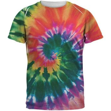 ESBGQ9 Spiral Tie Dye All Over Adult T-Shirt