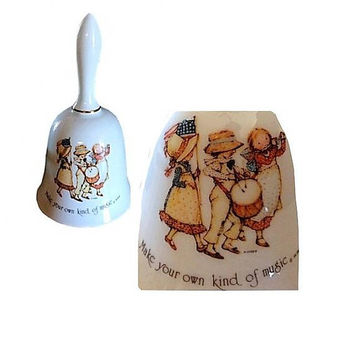 Holly Hobbie, Collectible Holly Hobbie, Holly Hobbie Bell, Vintage Holly Hobbie, Collectible Bell, Patriotic Bell, Make Your Own Music Bell