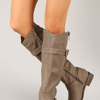 Breckelle Rider-22 Zipper Buckle Riding Knee High Boot