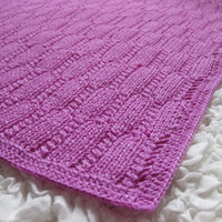 Hot Pink Cashmere Hand Knit Baby Blanket